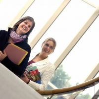Helen Thomas (left) and Catherine McGee, students at the University of Warwick.