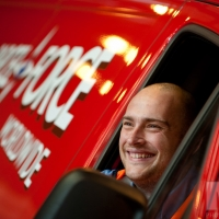Parcelforce Worldwide Dream Team Scheme: Chris Carrington at the Leicester depot. Photograph by Martin Neeves Photography - www.martinneeves.com - Tel: 01455 271849 / 07973 638591 - E-mail: mail@martinneeves.com