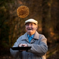 East Midland Housing Association's Abingdon Lodge tenant Fred Woodward flips a pancake on Shrove Tuesday. Photograph by Martin Neeves Photography - www.martinneeves.com - Tel: 01455 271849 / 07973 638591 - E-mail: mail@martinneeves.com