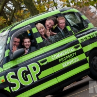 The Leicester taxi that is sponsored by SGP Property & Facilities Management. Photograph by Martin Neeves Photography - www.martinneeves.com - Tel: 01455 271849 / 07973 638591 - E-mail: mail@martinneeves.com