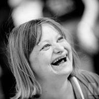 Fund-raising day for the Birmingham Children's Hospital at The Jaffray Centre, Erdington, Birmingham: Service user Marianne Hunt. Photograph by Martin Neeves Photography - www.martinneeves.com - Tel: 01455 271849 / 07973 638591 - E-mail: mail@martinneeves.com