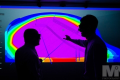 Mark Williams (left) and Dirk Landheer look at a 3D scan of a baby grand piano at Warwick Manufacturing Group (University of Warwick). Photography by Martin Neeves Photography - www.martinneeves.com - Tel: +44 (0)7973 638591 - E-mail: martinneeves@googlemail.com