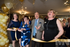 Emmerdale actor John Middleton officially opens Kiwi House care home in Derby, with (from left) Operational Director Emma Philpot, Mayor of Derby Cllr Linda Winter and Home Manager Debra Meynell. Photograph by Martin Neeves Photography & Film - www.martinneeves.com - Tel: +44 (0)7973 638591 - E-mail: martinneeves@googlemail.com