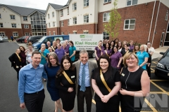 Emmerdale actor John Middleton officially with staff and management of Kiwi House care home in Derby,Photograph by Martin Neeves Photography & Film - www.martinneeves.com - Tel: +44 (0)7973 638591 - E-mail: martinneeves@googlemail.com