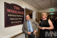 Emmerdale actor John Middleton with home manager Debra Meynell at The Woolpack pub inside Kiwi House care home in Derby. Photograph by Martin Neeves Photography - www.martinneeves.com - Tel: +44 (0)7973 638591 - E-mail: martinneeves@googlemail.com