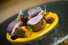 A pork dish at Sapori Italian Restaurant in Anstey, Leicestershire.
