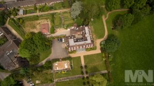 Low-level aerial photo of Catthorpe Manor, near Lutterworth, leicestershire, using a UAV (AKA a drone). Photograph by Martin Neeves Photography & Film - www.martinneeves.com - Tel: +44 (0)7973 638591 - E-mail: martinneeves@googlemail.com
